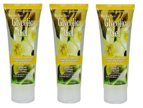 Roberts Research Laboratories Glycolic Gel For Skin 7.5oz (Pack Of 3)