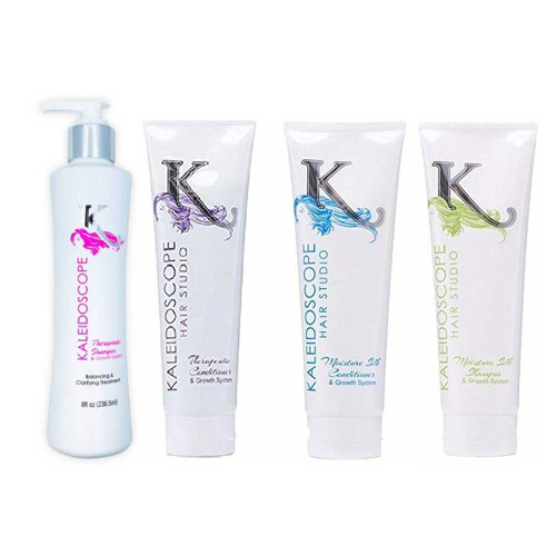 Kaleidoscope Hair Studio Moisture Silk AND Therapeutic, Shampoo and Conditioner Combo Set