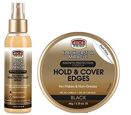 African Pride Black Castor Miracle Growth Protection Edge-Gel&Spray Combo
