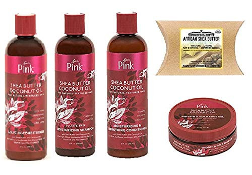 Luster's Pink Shea Butter Hair Care (SHAMPOO&CONDITIONER&LEAVE-IN-COND&EDGE-GEL&SHEA-BUTTER)