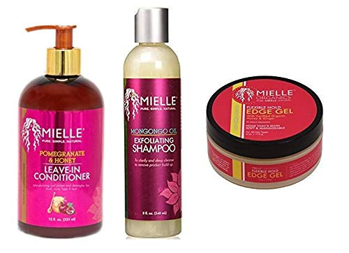 Mielle Pure Natural Care Combo SH&LEAVEIN-COND&EDGE-GEL
