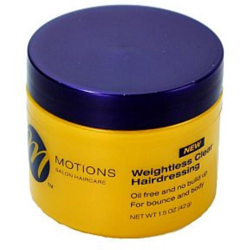 Motions Weightless Clear Hairdressing *New* 1.5oz