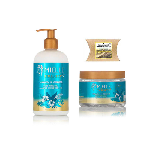 Mielle Moisture Rx Hawaiian Ginger Moisturizing Leave-In Conditioner and Styling Gel with African Shea Butter