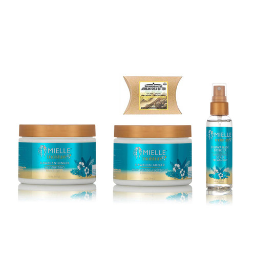 Mielle Moisture Rx Hawaiian Ginger Moisturizing Hair Butter, Overnight Conditioner and Scalp Treatment with African Shea Butter