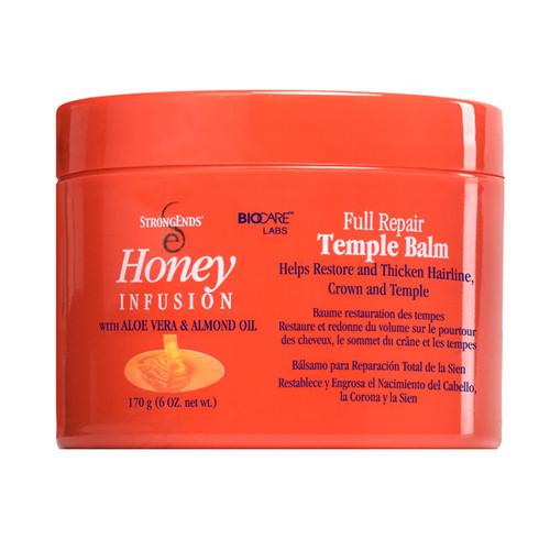 Strong Ends Full Repair Temple Balm with Aloe Vera & Almond Oil, 6 oz./170 g