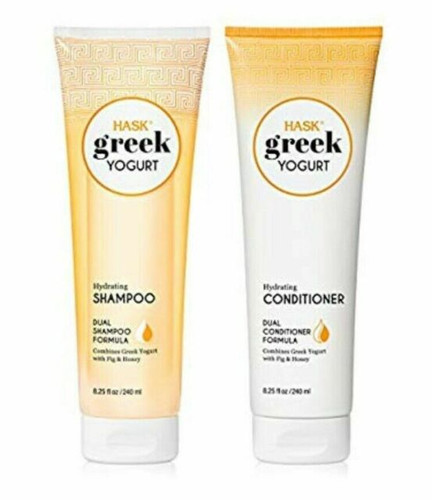 HASK Greek Yogurt Hydrating Shampoo & Conditioner Set, Fig & Honey
