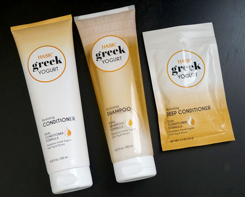 Hask Greek Yogurt Repairing Shampoo, Conditioner and Deep Conditioner  Combo with Fig & Honey