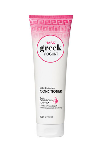 HASK Greek Yogurt Color Protection Conditioner with Pomegranate & Cranberry, 8.25 oz/ 240 ml