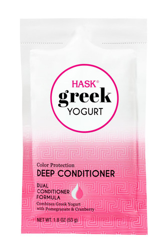 Hask Greek Yogurt Color Protection Deep Conditioner with Pomegranate & Cranberry set of 12