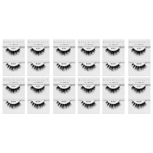 Kara Beauty 100% Human Hair  Eyelashes- S11 (Pack of 12)