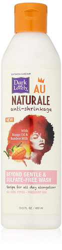 SoftSheen-Carson Dark and Lovely Au Natural Anti-Shrinkage Beyond Gentle and Sulfate Free Wash, 13.5 fl. oz/ 400 ml