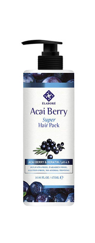 Elabore Acai Berry Super Hair Pack 16.06 Fl oz