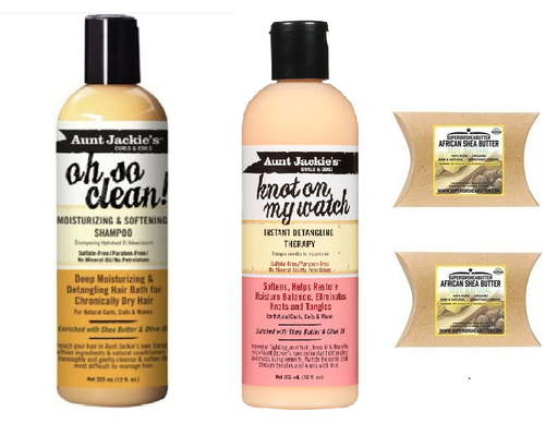 Aunt Jackie's Oh So Clean Moisturizing Shampoo & Instant Detangling Therapy, Set Set includes: