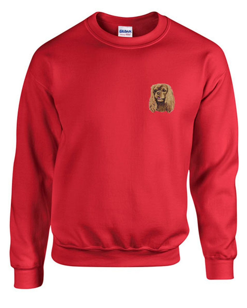 Cavalier King Charles Spaniel Custom Embroidered Sweatshirt Shirt