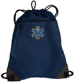 EMT Embroidered Cinch Bag