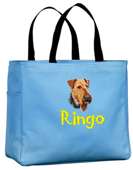 Airedale Personalized Tote Bag