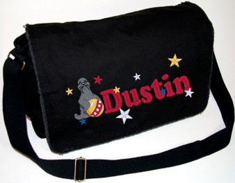 Personalized SEAL Diaper Bag Font shown on bag is COUPER BOLD