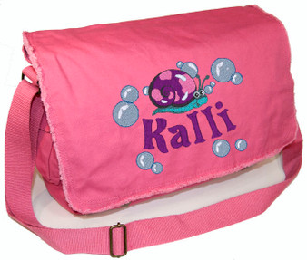 Personalized SNAIL Diaper Bag