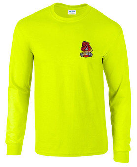 Firefighter Embroidered Long Sleeve T-Shirt