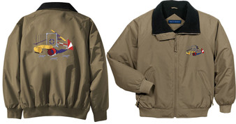 Agility Embroidered Jacket Front & Back