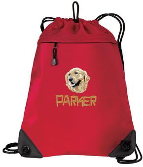 Golden Retriever Cinch Bag