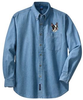 Boston Terrier Denim Shirt