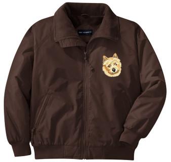 Norwich Terrier Jacket Front Left Chest