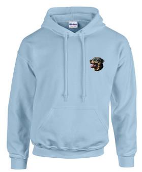 Rottweiler Hooded Sweatshirt Front Left Chest