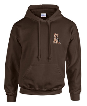 Yorkshire Terrier Sweatshirt Front Left Chest