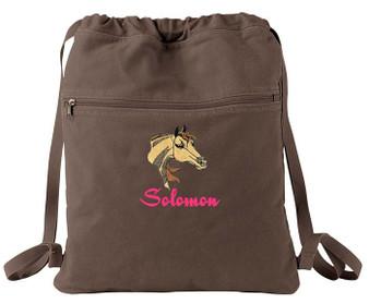 Arabian Cinch Bag Font shown on bag is MONTREAL
