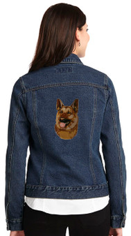 German Shepherd Denim Jacket