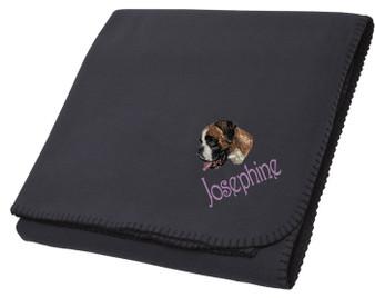 Boxer Blanket Font shown on bag is HARRINGTON