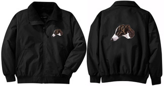 Greyhound Jacket Back and Front Left Chest