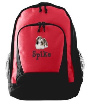 Shih Tzu Backpack Font shown on bag is MOPED