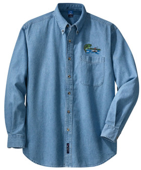 Fishing Bass Denim Shirt
