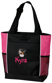 Greater Swiss Mountain Dog Tote Font shown on bag is SPLASH