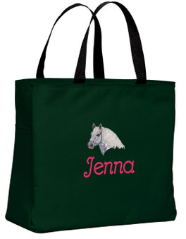 Draft Tote Font shown on tote is BEVERLY