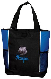 Bouvier des Flandres Tote Font shown on bag is Josephine