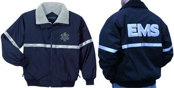 EMT EMS Reflective Jacket - Embroidered Front & Back