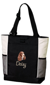 Springer Spaniel Tote Font shown on tote is Masala