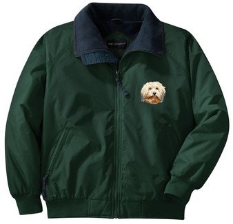 Havanese jacket with embroidered front left chest