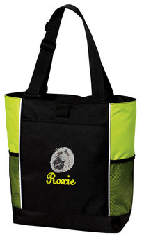 Keeshond Panel Tote Font shown on bag is JOSEPHINE