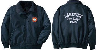 Fireman Jacket with design on front and lettering on back