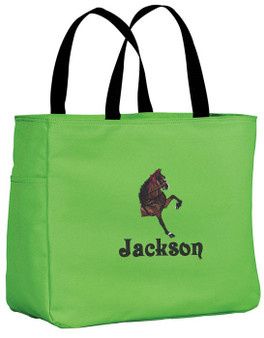 Hackney Tote Font shown on tote is INSCRIPTION