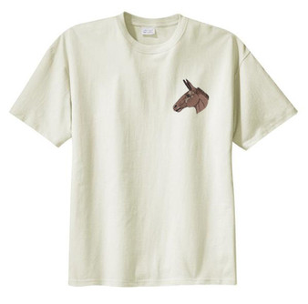 Mule Donkey Embroidered T-Shirt