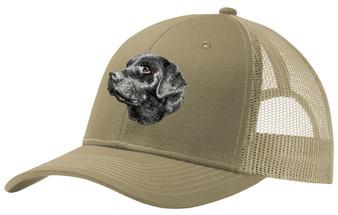 Black Labrador Retriever Embroidered Snapback Trucker Hat
