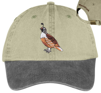 Quail embroidered hat