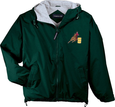 Barrel Racing Hooded Jacket Embroidered Front