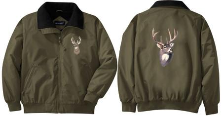 Deer Jacket Embroidered Front Back