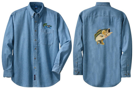 COONHOUND embroidered denim shirt XS-XL